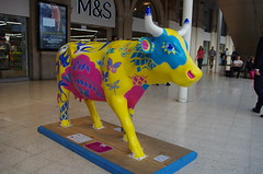 IMGP4391 (Steve Guess) Tags: surrey hills cow parade sculpture trail waterloo station lambeth london england gb uk network rail swt south west trains
