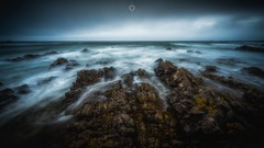 Miles and Miles of Nothing (Augmented Reality Images (Getty Contributor)) Tags: canon clouds coastline landscape leefilters longexposure morayshire rocks scotland seascape seaweed sunnysidebeach tide water waves