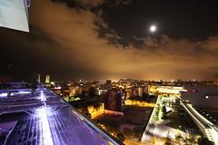 Torre Agbar - Barcelone (Madme Rve) Tags: torre agbar espana barcelona barcelone moon night spain espagne