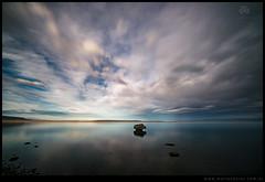 Roca erratica lago Argentino atardecer