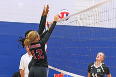 IMG_9520 (SJH Foto) Tags: girls volleyball high school stroudsburg pa pennsylvania team tween teen teenager varsity net battle spike block action shot jump midair