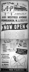Wesrfield Ave Pennsauken A&P Opening 1960 (JSF0864) Tags: ap centennial food store sketch drawing vintage ad advertisement supermarket opening sign