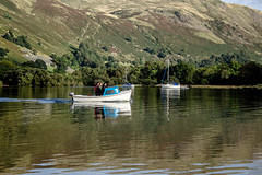 Boats on Ullswater (allybeag) Tags: glenridding patterdale lakedistrict cumbria postfloods boats ullswater lake reflections fells trees