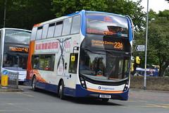 Stagecoach AD Enviro 400MMC 10619 SN16OXA - East Didsbury (dwb transport photos) Tags: stagecoach manchester alexander dennis enviro 400mmc bus decker 10619 sn16oxa eastdidsbury
