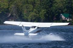 Private Cessna 182T N580DD (jbp274) Tags: greenville greenvilleseaplaneflyin flyin 52b airplanes seaplane floatplane lake water cessna c182 skylane mooseheadlake
