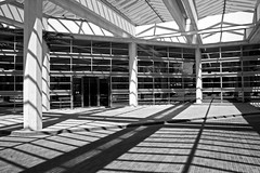 Architectual Lines (Alan Amati) Tags: amati alanamati america indiana in columbus cummins architectural lines sun shadow building architecture midwest pattern light bw blackandwhite blackwhite monocrome modern clean striking