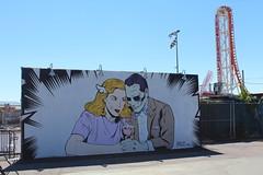 Brooklyn - Coney Art Walls: D*Face (wallyg) Tags: brooklyn coneyartwalls coneyisland kingscounty newyork newyorkcity ny nyc streetart dface mural untitled