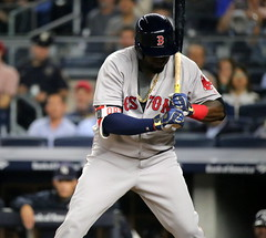 Red Sox DH David Ortiz takes a pitch in the sixth inning. (apardavila) Tags: baseball bostonredsox davidortiz majorleaguebaseball mlb sports yankeestadium