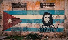 Hasta La Victoria Siempre - Havana (IV2K) Tags: havana habana lahabana cuba cuban suba caribbean centro centrohavana centrohabana che cheguevera propaganda tuba kuban cubano sony rx1 sonyrx1 street flag mural graffiti