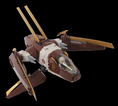 Mantis - Title (.Jake) Tags: brown game lego space telephone spaceship swoosh starfighter starfightertelephonegame