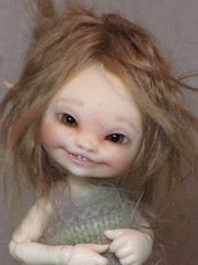 This Face............ (ElfinHugs) Tags: by mouth real tiny bjd custom soso fairyland modded ginnie puki faceup realpuki