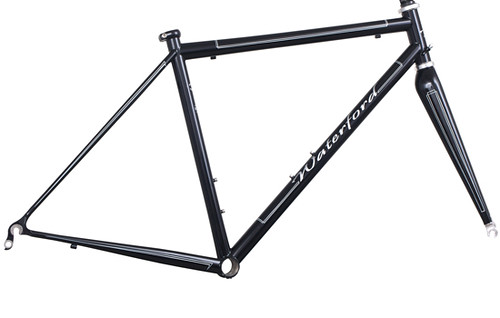 "<p>Waterford 14-Series Vision frame in Black with White Box Pinstriping.  <a href=""http://waterfordbikes.com/w/bikes/vision/"" rel=""nofollow"">Learn more . . .</a></p>"
