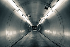 The Bends (vulture labs) Tags: street city uk travel blue light england urban white building london art station metal architecture modern underground landscape photography photo nikon exposure industrial angle metallic interior capital tube wide tunnel labs scifi londonunderground vulture nikkor futuristic cityoflondon lightroom thebends d700 1424mm vulturelabs