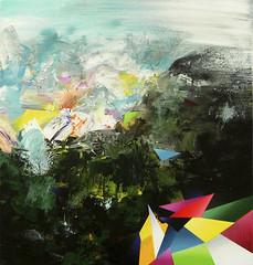 Landscape study. 95 x 90 cm. Acrylic on canvas. 2009