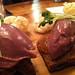 Chicken liver parfait on malt loaf