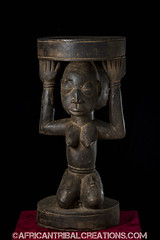 SongyeStool002c (African Tribal Creations) Tags: wood art mask antique african tribal carving figure congo stool drc creations songe handcarved democraticrepublicofcongo songye wasonga songhay basonge bassongo basongye bayembe