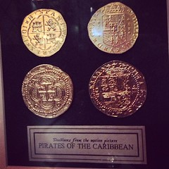 Doubloons from the Motion Picture Pirates of the Caribbean (tux0racer) Tags: movie prop doubloons