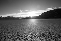Racetrack Playa in B&W (KayOne73) Tags: park ca bw white black monochrome racetrack lens death nikon angle wide playa national valley mm nikkor f4 1635 d600