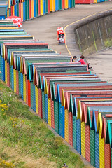 Beach Huts-1-01 Sept 2012 (Martyn Gill - IMAGES -731,000 Views - Thank You...) Tags: uk blue red green yellow canon colours whitby beachhuts northyorkshire eastcoast westshore 400d martyngillphotography2012