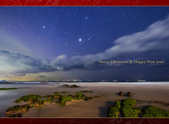 When You Wish Upon a Star  (-TommyTsutsui- [nextBlessing]) Tags: longexposure blue winter light sea sky seascape green beach nature yellow rock japan night clouds landscape star nikon tide scenic        starry izu shirahama       sigma1020  shimda onsalegettyimages