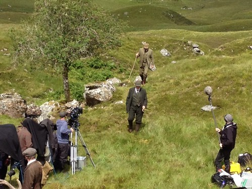 Stars shootoing Downton Abbey Christmas show at Inveraray Castle