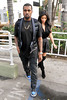 Kanye West and Kim Kardashian leaving Kung Pao Bistro in West Hollywood Los Angeles, California