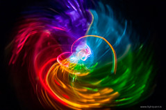 Something Colorful (FDU4) Tags: longexposure blue light red lightpainting abstract motion black color green circle rainbow colorful experimental rotation