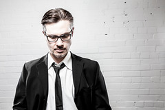 BT (christait) Tags: portrait canada man calgary studio goatee glasses photographer flash tie suit sombre alberta sullen speedlight strobe speedlite brenttaylor