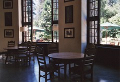 the ahwahnee hotel (spitting venom) Tags: windows film 35mm hotel nikon chairs room lodge tables yosemitenationalpark nikonfm ahwahneehotel