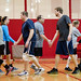 Volleyball tourney - low fives after match