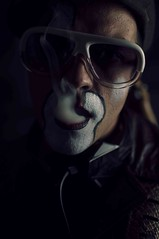 Smoker (StuartSlimp) Tags: guangzhou china studio nikon dj smoke clown january smoker d90 2013 clownmakeup audioprostitute