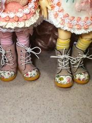 Shoes!!! (kitties99) Tags: ball doll boots chloe bonnie bjd fairyland jointed yosd littlefee