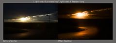 Lightroom Workshop 3 (BJFF) Tags: street sunset sun dark landscape austria sterreich sonnenuntergang hill beforeandafter landschaft sonne stein dunkel steiermark hgel loipersdorf strase vorherundnachher lightroomworkshop bersbach nikond7000 rittschein lightroom4 nikonnikkor1685mm kglberg