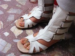 DSCF9306 (sandalman444) Tags: male feet sandals polish mens pedicure toenails toerrings