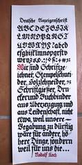 Deutsche Anzeigenschrift (xelo garrigs) Tags: letters alphabet lettering calligraphy fraktur blackletter letras caligrafa gtica alfabet calligrafia