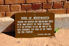 No. 012 - Wentworth Gaol No Peeing Sign - Wentworth NSW (spacountry) Tags: sign sand wentworth jail nsw signage pissing peeing gaol urinating mildura weeing offence spacountry shireclerk wentworthgaol wentworthshire