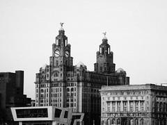 Liverpool 2009 from Birkenhead (katieharding1989) Tags: red white black liverpool river boats october birkenhead 2009 mersey merseyside liverbuilding uploaded:by=flickrmobile flickriosapp:filter=nofilter