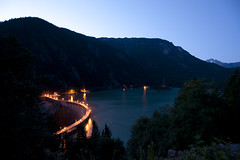 Diablo Dam North Cascades NP (Deby Dixon) Tags: travel tourism water washington nationalpark nightlights diablo viewpoint diablodam cascademountains northcascadesnationalpark rosslake seattlecitylights debydixonphotography