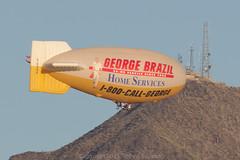 Call George - Hot Air Balloon plus Ultra light-2659 (rob-the-org) Tags: iso100 noflash advertisement hotairballoon cropped ultralight f80 400mm scottsdaleaz 100400 sdl geoge 1320sec ksdl borrowlensescom scottsdalemunicipalairport georgebrazil