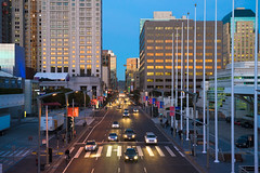 Howard Street (sirgious) Tags: sanfrancisco sunset dusk soma mosconecenter howardstreet yerbabuenacenter sftr