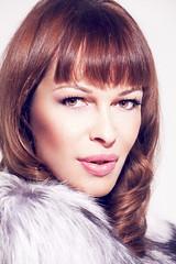 IMG_0154 (Adrie Banko) Tags: portrait woman eye face make up canon hair studio fur nose model skin portait lips 5d mark2