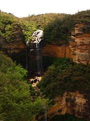 Wentworth Falls, Blue Mountains (jurassicjay) Tags: travel mountains waterfall sandstone australia bluemountains waterfalls newsouthwales katoomba wentworthfalls bluemountainsnationalpark