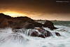 Perruque d'écumes (Descliks2bretagne PHOTOGRAPHIE) Tags: ocean longexposure sunset sky cloud seascape storm nature rock brittany wave bretagne ploumanach ☆thepowerofnow☆ descliks2bretagne ledilhuitnicolas