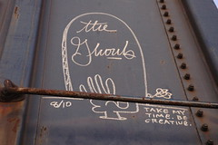 the ghouls (bearded wagon) Tags: west art train bench bars steel south az oil boxcar hobo freight trackside streakers railbox monikers moniker meanstreaks benched 2213 benchers