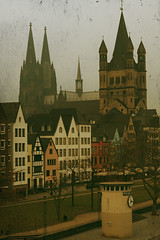 Vintage Cologne (ionut iordache) Tags: city canon germany deutschland cathedral dom cologne kln canonef2470mmf28lusm nordrheinwestfalen klnerdom colognecathedral northrhinewestphalia hohedomkirchestpeterundmaria canoneos50d canon50d grosstmartin greatsaintmartinchurch