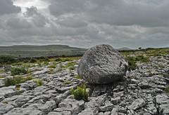 A Rock and a Hard Place. (DWH284) Tags: ireland burren countyclare limestonepavement erraticboulder limestonecountry slievecarron