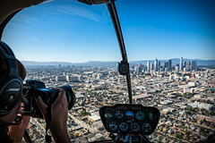 20160721 DTLA Aerial -5 (Tony Castle) Tags: aerial photography helicopter heli canon 5diii sony a7rii mirrorless sigma mc11 converter sky city la dtla los angeles traffic
