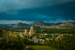 Close view of Virupaksha Temple from Mathanga Hills, Hampi! (yugantarora) Tags: landscape travel clouds temple nikon photo india 500px landscapes skyline hampi temples photography faith ruins historical rainy empire historic topview virupaksha d3200 hospet incredibleindia vijaynagar closeshot indiantemples travelindia groupoftemples mathangahills mathanga karnataka historicalhampi history tourism oldtemple templeruin vithaltemple karnatakaborder indiainmylens landscapephoto landscapeofday flickr visitindia indiaimages istock shutterstock