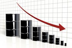 3D Decreasing Oil Prices (StockMonkeys.com) Tags: 3d creativecommons oilprices crude barrel decreasing graph