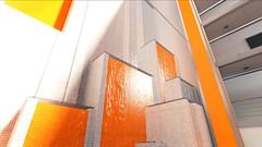 Mirror's Edge, 2009 (Video Games Art) Tags: minimalism videogame videogames jeuvideo jeuxvideo mirrorsedge urban city panorama orange tower towers hightower hightowers atmospere